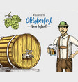 man in traditional belgian or bavarian clothes vector image vector image
