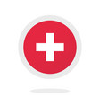 medical cross plus round circle icon idea vector image