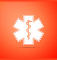 medical symbol of the emergency star of life icon vector image vector image