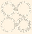 minimalist rope simple round frames set vector image