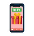 mobile online shopping smartfon vector image vector image