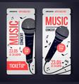 music concert ticket design template vector image vector image