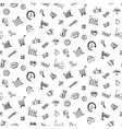 Pattern with Social media business doodles vector image vector image