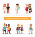 people different age and status couples friends vector image