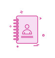 phonebook icon design vector image