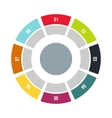 Round chart icon flat style vector image vector image