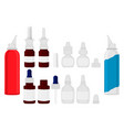 set different types of sprayers pipette for vector image