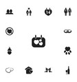 set of 13 editable passion icons includes symbols vector image vector image