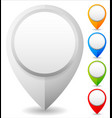 set of colorful map marker map pin icons vector image