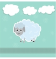 Sheep and clouds cute vector image
