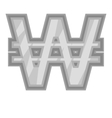 Sign of money won icon black monochrome style vector image vector image