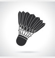silhouette badminton shuttlecock with feathers vector image