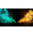 smoke stage background abstract blue vector image vector image