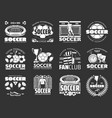 soccer game sport items and players icons vector image