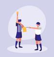 soccer referee men avatar character vector image