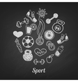 Sport set icons vector image vector image