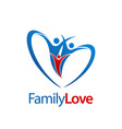 three human family love logo concept design vector image