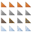 Triangular Blocks For Physics Game 1 vector image vector image
