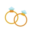 Wedding golden rings isolated on background vector image vector image