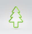 wire fur tree xmas symbol vector image vector image