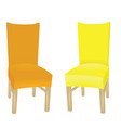 yellow and orange chair vector image vector image