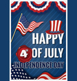 HAPPY 4th OF JULY INDEPENDENCE DAY Greeting Card vector image