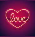 love heart neon sign vector image