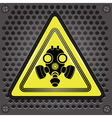 yellow gas mask sign vector image