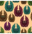 Seamless texture of owls vector image