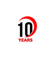 10th anniversary abstract logo ten happy vector image vector image