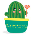 a decoration piece cactus plant pot with a vector image