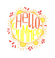a hand-drawn lettering for the summer vector image vector image