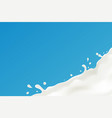 a splash of milk vector image