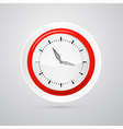 abstract red and white clock isolated on white vector image vector image
