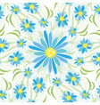 abstract vintage seamless flower pattern vector image vector image