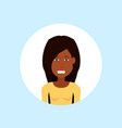 african american woman face happy lady portrait on vector image