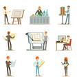 architect profession series of vector image