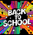 back to school poster comic retro alphabet vector image