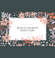 background of flowers composition vector image vector image