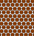 Basketball pattern background vector image vector image