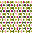 beautiful seamless pattern with trees vector image