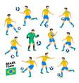 brazil football team brazil soccer players full vector image vector image