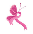 breast cancer awareness month pink butterfly vector image vector image