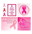 Breast cancer poster set vector image vector image
