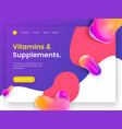 bright and juicy landing page template for sites vector image vector image