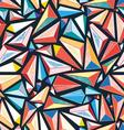 bright colorful seamless pattern of triangles vector image vector image