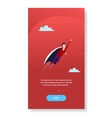 businessman flying wear hero cape success business vector image