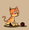 cat and wool balls vector image