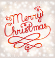 christmas card with handwritten lettering vector image
