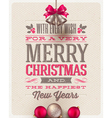 Christmas type design and holidays decoration vector image